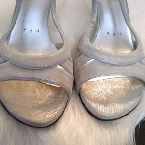 Stuart Weitzman Shoes - Stuart Weitzman silver shoes sz 9.5 N